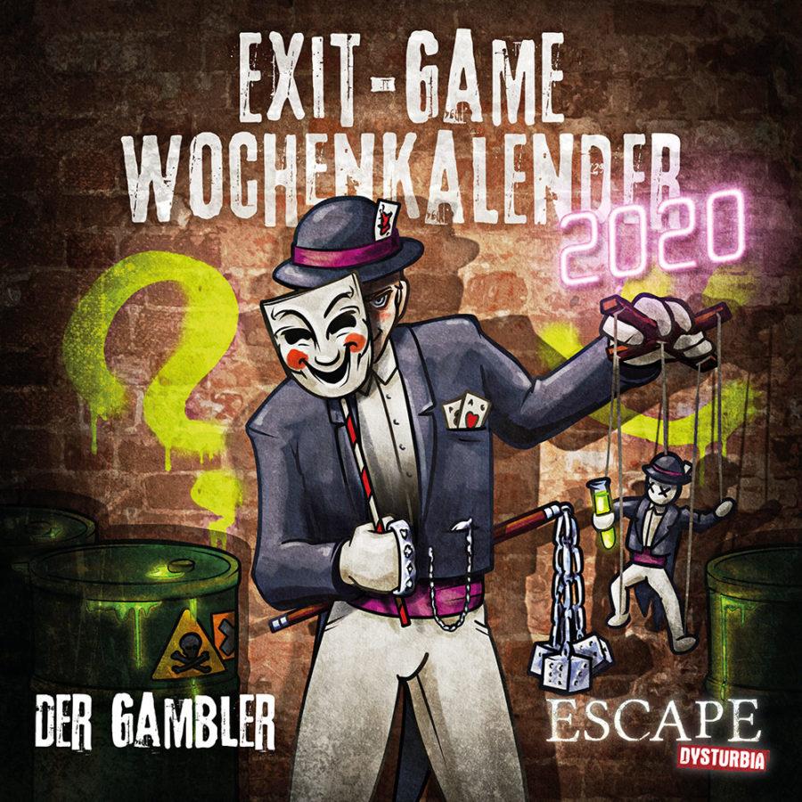 Cover von Exit-Game-Kalender 2020: Der Gambler