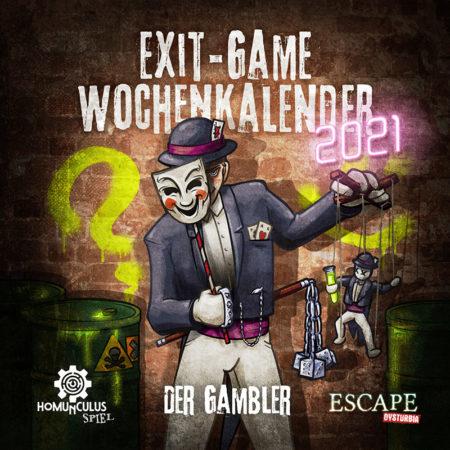 Cover von Exit-Game-Kalender 2021: Der Gambler